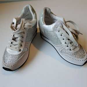 Ash sparkly white spring tennis shoes